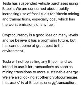 Image of Elon's Tweet; Source: Twitter - CryptoCaptain