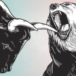 A bull and a bear fighting - CryptoCaptain