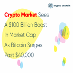 Crypto Market Sees a $100 Billion Boost in Market Cap As Bitcoin Surges Past $40,000